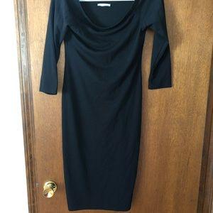 Zara fall/winter lbd! Black quarter sleeve dress